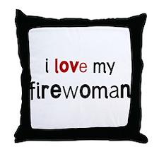 I love my Firewoman Throw Pillow