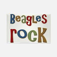 Beagles Rock Dog Owner Lover Rectangle Magnet
