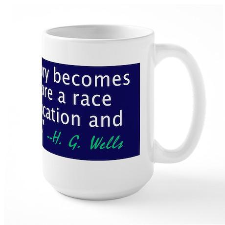H G Wells history quote coffee mug