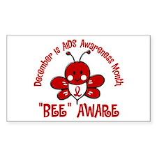 AIDS Awareness Month 4.2 Rectangle Decal