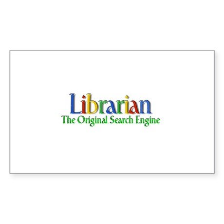 Librarian - Original Search Engine Sticker (Rectan