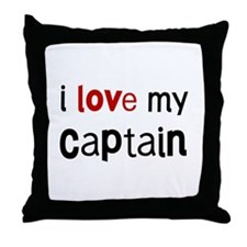 I love my Captain Throw Pillow