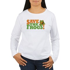 SAVE THE FROGS! Women's Long Sleeve Shirt