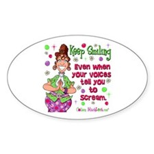 Keep Smiling Oval Sticker (10 pk)