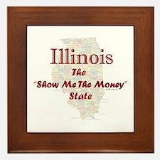 Illinois Show Me The Money Framed Tile