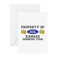Property of Kansas Drinking Team Greeting Card