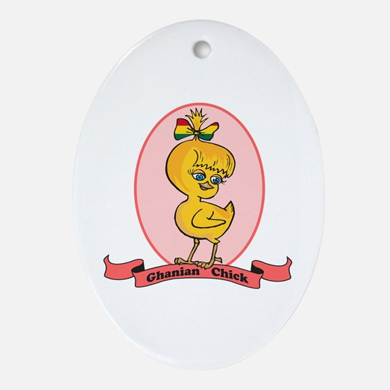 Ghanian Chick Oval Ornament