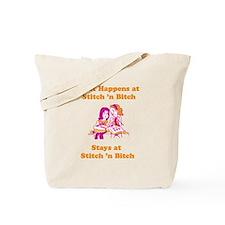 What Happens at Stitch 'n bit Tote Bag