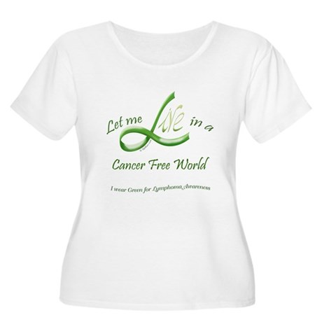 Lymphoma Aware Women's Plus Size Scoop Neck T-Shir