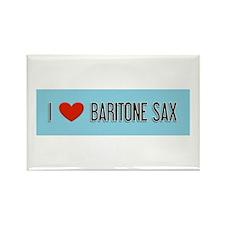 Musicolicious Baritone Saxophone Rectangle Magnet