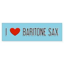 Musicolicious Baritone Saxophone Bumper Bumper Sticker