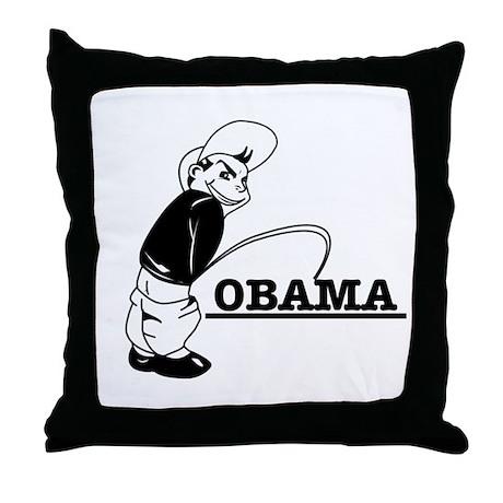 Piss on Obama Throw Pillow