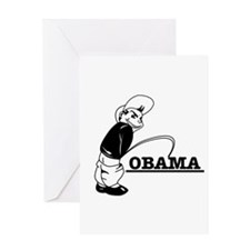 Piss on Obama Greeting Card