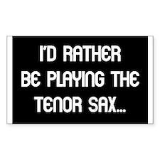 Tenor Sax Gift Rectangle Decal