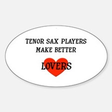Tenor Sax Gift Oval Decal