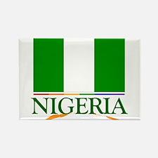 Nigeria Pride Flag Rectangle Magnet