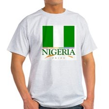 Nigeria Pride Flag Ash Grey T-Shirt