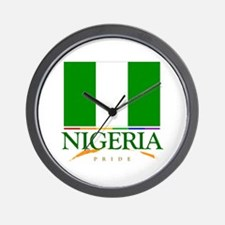 Nigeria Pride Flag Wall Clock