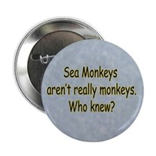 "Sea Monkeys Aren't Real 2.25"" Button"