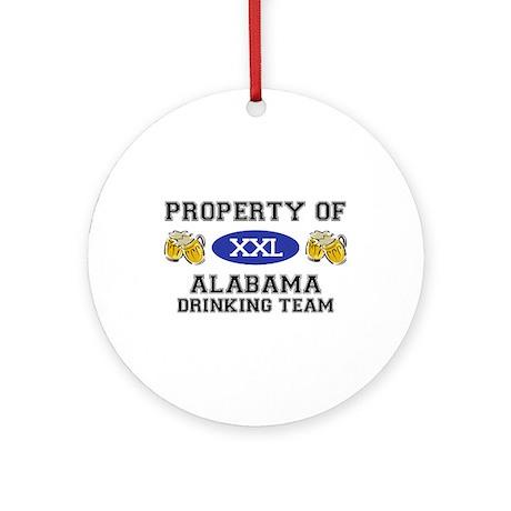 Property of Alabama Drinking Team Ornament (Round)