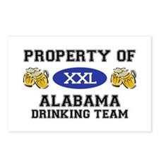 Property of Alabama Drinking Team Postcards (Packa