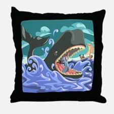 Jonah in the Whale Throw Pillow