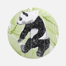 Vintage Panda Bear Ornament (Round)