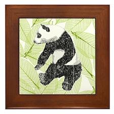 Vintage Panda Bear Framed Tile
