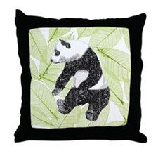 Vintage Panda Bear Throw Pillow