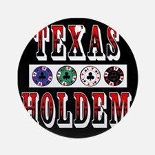 Texas Holdem Chips Ornament (Round)