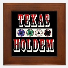 Texas Holdem Chips Framed Tile