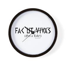 Fac ut Vivas Wall Clock