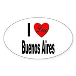 I Love Buenos Aires Argentina Oval Sticker (10 pk)