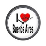 I Love Buenos Aires Argentina Wall Clock