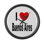 I Love Buenos Aires Argentina Large Wall Clock