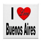I Love Buenos Aires Argentina Tile Coaster