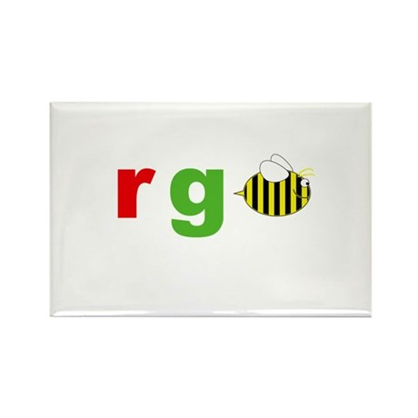 r g bee Rectangle Magnet (100 pack)