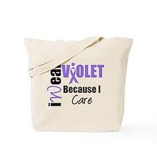 I Wear Violet Ribbon Tote Bag