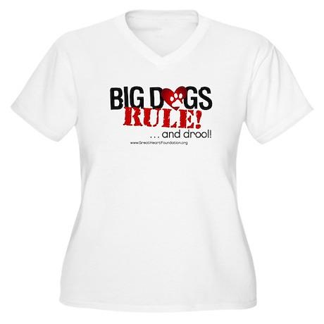 Big Dogs Rule Women's Plus Size V-Neck T-Shirt