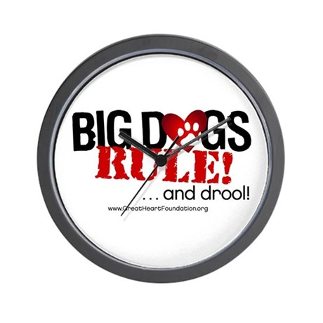Big Dogs Rule Wall Clock