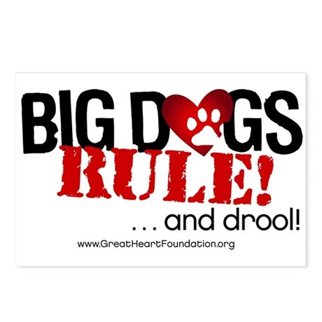 Big Dogs Rule Postcards (Package of 8)