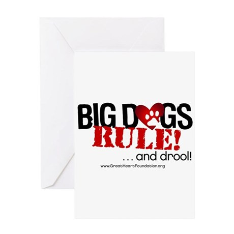 Big Dogs Rule Greeting Card