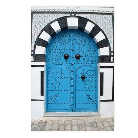 Doorway at Sidi Bou Said Postcards (Package of 8)