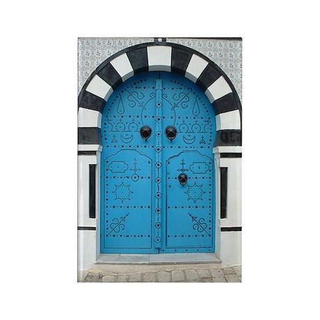 Doorway at Sidi Bou Said Rectangle Magnet