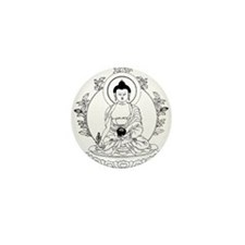Medicine Buddha BW Mini Button