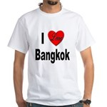 I Love Bangkok Thailand (Front) White T-Shirt