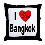 I Love Bangkok Thailand Throw Pillow