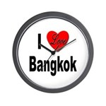I Love Bangkok Thailand Wall Clock
