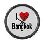 I Love Bangkok Thailand Large Wall Clock