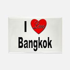 I Love Bangkok Thailand Rectangle Magnet